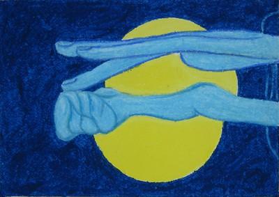 Moon above Arles III