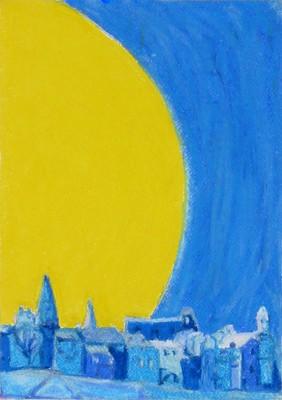 Moon above Arles
