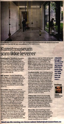 Article on the wanting ahievments of Trondheim Art Museum under its new director
