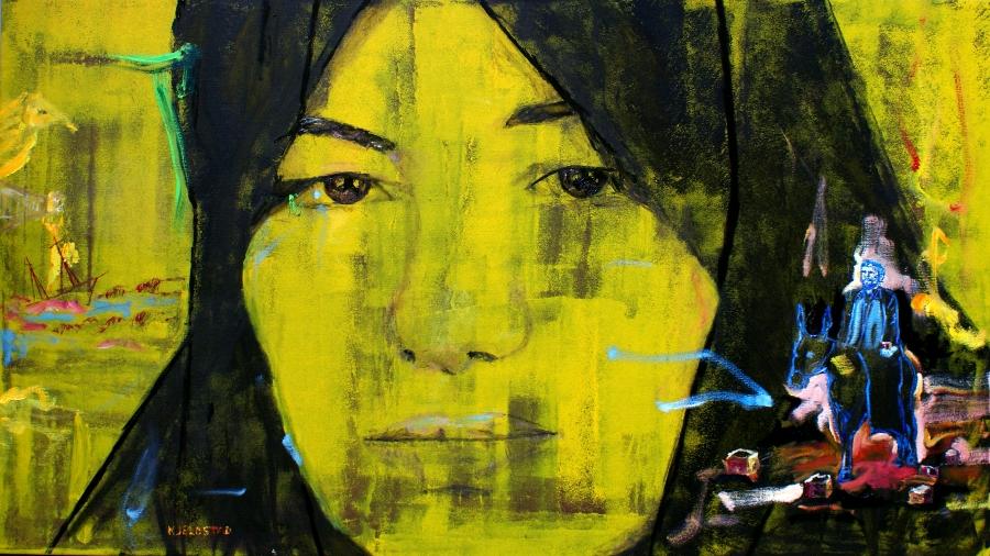 2010, olje og akryl på lerett, 160 x 90 cm